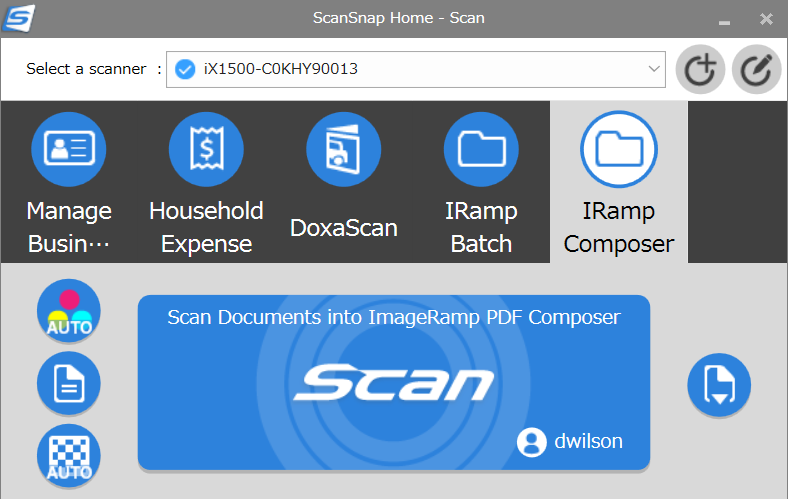 imageramp on ScanSnap scanners