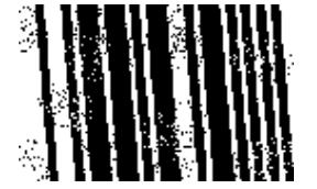 Clean barcodes with white speckles in the bars with ImageRamp