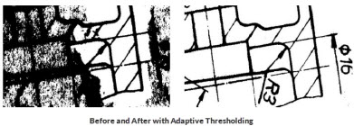 adaptive thresholding before after resized