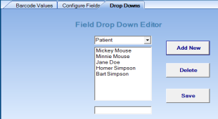 Create your own standard drop down menu options