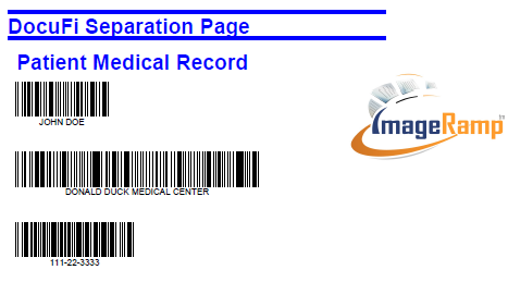 create pdf barcoded scan separation files